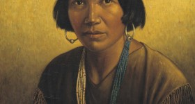 Navajo Hostin Nez painting by Carl Moon