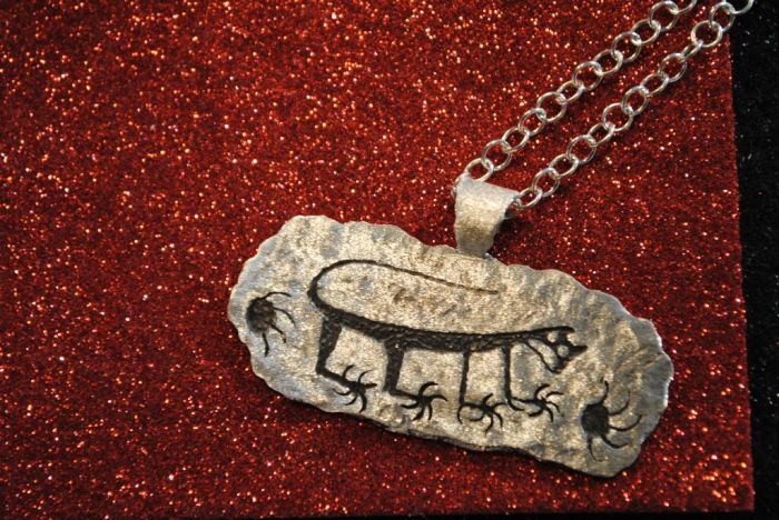 Navajo Rock Art Jewelry by Ernie Washee-1