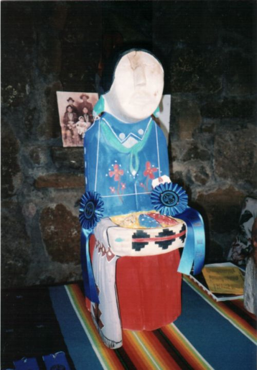 Traditional Diné lady by Harry Benally