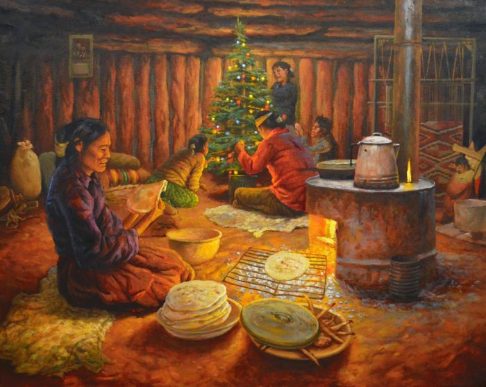 Family Holiday Evening  by Navajo James King