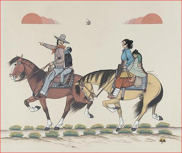Going to Night Chant - Quincy Tahoma, Diné (Navajo), 1921-1956