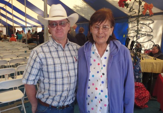 Al Grieve and Margaret Grieve at Hubble Trading Post rug auction
