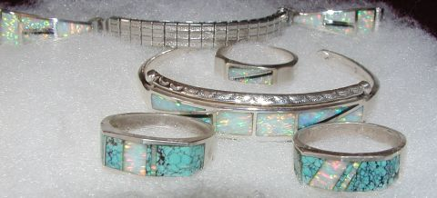silver and turquoise navajo jewelry